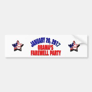 Obamas AbschiedsParty Autoaufkleber