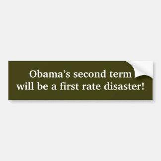 Obamas an zweiter Stelle Ausdruck Autoaufkleber
