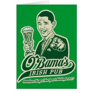 Obamas irische Kneipe Karte