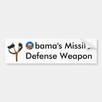 Obamaslingshot-Flugverteidigungs-Waffe Autoaufkleber