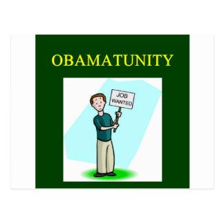 OBAMUNISM Antibarack obama Entwurf Postkarte