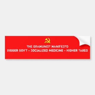 Obamunist Manifest Autoaufkleber