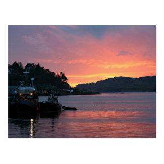 Oban Hafen, Schottland Postkarte