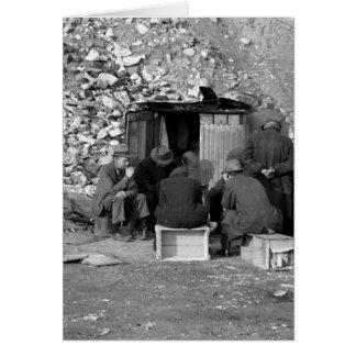 Obdachlos und Arbeitslose 1938 Karte
