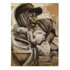 Obdachlose Mutter und Kind Postkarte