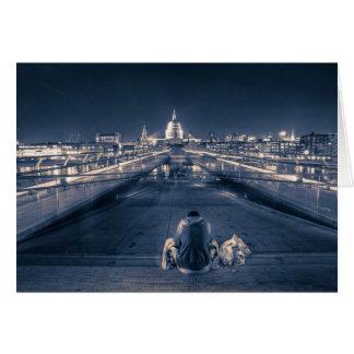 Obdachloser in London Karte