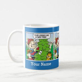 """""""Oben bis Comic-Streifen-Tasse Julis"""" Garfield Kaffeetasse"""