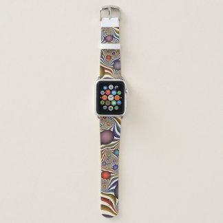 Oben fliegen, bunte, moderne, abstrakte apple watch armband