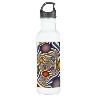 Oben fliegen, bunte, moderne, abstrakte edelstahlflasche