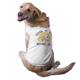 Oben, hören Jungen - Hillary-Karikatur Ärmelfreies Hunde-Shirt