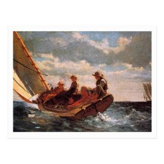 Oben sausen durch Winslow Homer Postkarte