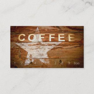 Obenliegende Kaffee-Zeichen-Loyalitäts-hölzerner Treuekarte