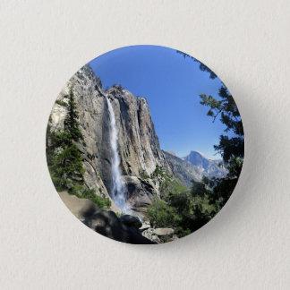 Oberes Yosemite Falls - Yosemite Runder Button 5,7 Cm