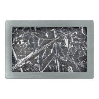 Oberfläche der reinen Silikonkristalle Rechteckige Gürtelschnalle
