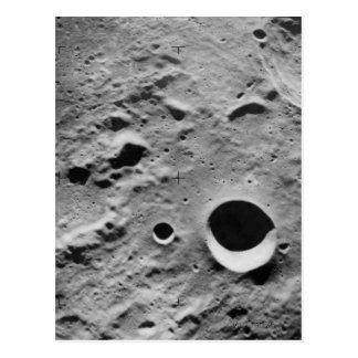 Oberfläche des Mondes Postkarte