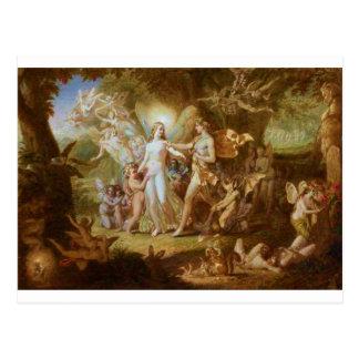 Oberon und Titania Postkarte