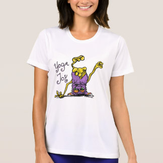 Oberseite - unten Monster - Yoga-Freude in Lila T-Shirt