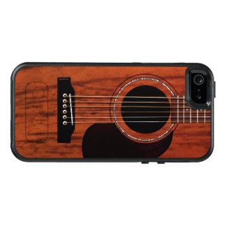 Oberste Mahagoniakustikgitarre OtterBox iPhone 5/5s/SE Hülle