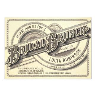 Oberste Vintage Brautbrunch-Einladungen Karte