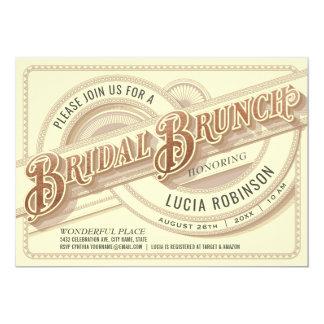 Oberste Vintage Brautbrunch-Einladungs-Folie Karte