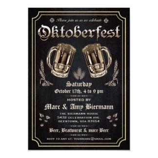 Oberste Vintage Oktoberfest Einladungen v.3