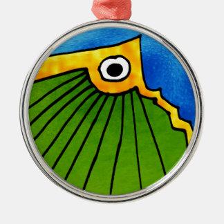 Objekt Rundes Silberfarbenes Ornament