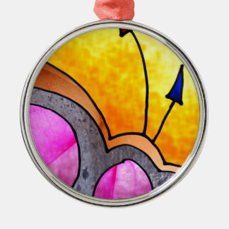 Objekt unbekannter Funktion Rundes Silberfarbenes Ornament