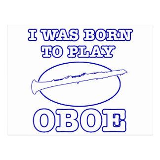 Oboe Designse Postkarte