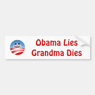 obolo, Würfel Obama LiesGrandma Auto Aufkleber