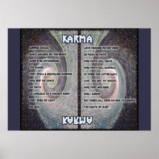 Oboros Tapisserie-Karma-Plakat Poster