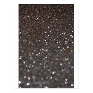 Obsidian-Glitter Postkarte