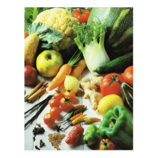 Obst und Gemüse, alle Arten Gemüse Postkarte