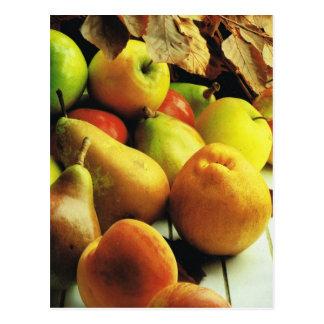 Obst und Gemüse, Äpfel und Birnen Postkarte