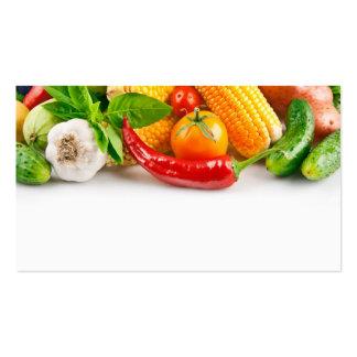 Obst- und Gemüse Händler-Visitenkarteschablone Visitenkarten Vorlage