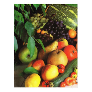 Obst und Gemüse, herbstliche Ernte Postkarte