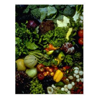 Obst und Gemüse Postkarte