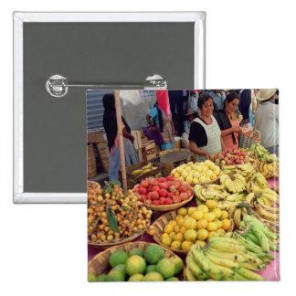 Obst- und Gemüse Stall Quadratischer Button 5,1 Cm