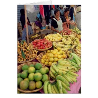 Obst- und Gemüse Stall Grußkarte