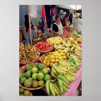 Obst- und Gemüse Stall Poster