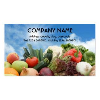 Obst und Gemüse Visitenkarte