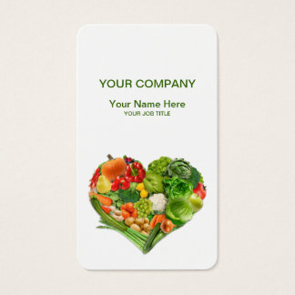 Obst- und GemüseHerz-Geschäft Visitenkarte