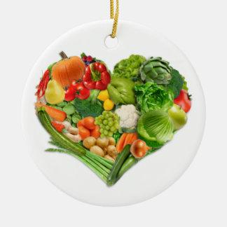 Obst- und GemüseHerz - vegan Keramik Ornament