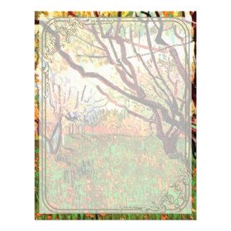 Obstgarten in der Blüte, Vincent van Gogh. Flyer