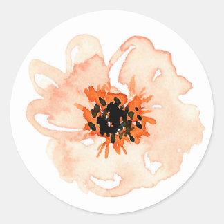 Obstgarten-Park-Single-Blume Runder Aufkleber