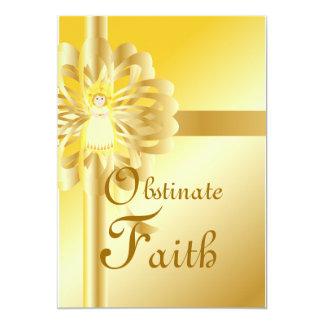 Obtinate Glaube-Fertigen besonders an 12,7 X 17,8 Cm Einladungskarte