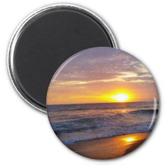 OBX Sonnenaufgang-äußerer Bank-Sonnenaufgang Runder Magnet 5,1 Cm