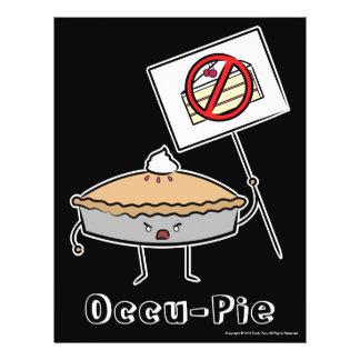 """Occu-Torte (Wert """"Plakat"""", Schwarzes) 21,6 X 27,9 Cm Flyer"""