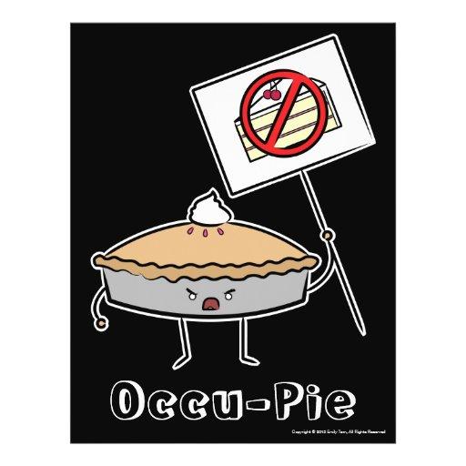 "Occu-Torte (Wert ""Plakat"", Schwarzes) Flyerdruck"