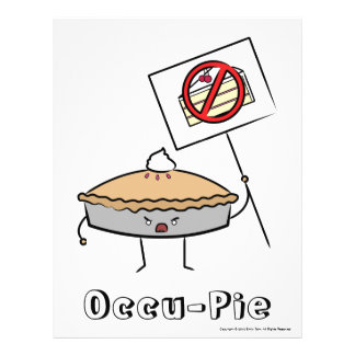 """Occu-Torte (Wert """"Plakat"""", weiß) Personalisierte Flyer"""