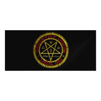 OCCULTIST-GEWERKSCHAFTS-EINHEIMISCHES 666    019 MAGNETISCHE KARTE